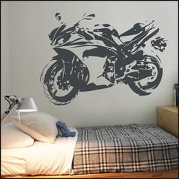 $enCountryForm.capitalKeyWord Australia - Motorcycle Motorbike Children Kids Vinyl Sticker Bedroom Home Decal Wall Art Wall Art Tattoos