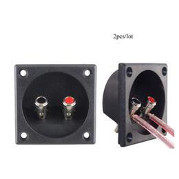 Discount speaker push terminal 2pcs Square Shape Push Spring Loaded Jacks Double Binding Post Speaker Box Terminal Cup Free Shipping car