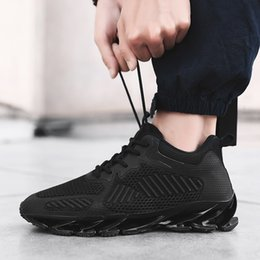 Camp Shoes For Men Australia - Hot 2019 Fashion Casual Shoes For Men Breathable Spring Blade Camping Shoes Men Sneakers Bounce Summer Outdoor Flats Shoes Size 39-48