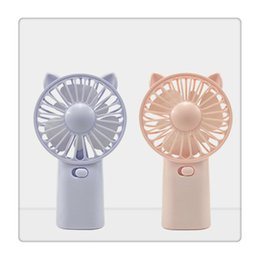 $enCountryForm.capitalKeyWord Australia - Office Gifts Portable Small Fan Cool Handle Fans Place On Desktop Mini Gadget Charging Electric Handheld Fan for Home New
