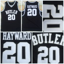Mens Vintage Jerseys Australia - Mens Butler Bulldogs #20 GORDON HAYWARD College Basketball Shirts Vintage Black 100% Stitched College Basketball Jerseys S-3XL Fast Shipping