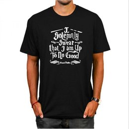 Good t shirts brands online shopping - Harry Potter men T Shirts I Solemnly Swear That I Am Up To No Good Print Brand Casual man Tees Shirt MMA1309