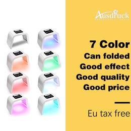 Toptan satış YENI LED Foton Terapi 7 Renkler (Kırmızı Mavi Yeşil) Işık Tedavisi Yüz Güzellik Cilt Bakımı Gençleştirme Pototerapi Maskesi PDT Güzellik Yüz C