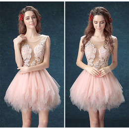 prom dancing dress Canada - A-Line Summer New Banquet Short Poncho Skirt Lace Party Cocktail Dress Dew Deep V Back School Dance Prom Dresses
