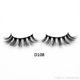 $enCountryForm.capitalKeyWord Australia - 3D Real Mink Lashes Fur False Eyelashes Strip Thick Fake Faux Eye Lashes Makeup Beauty 100% Handmade Glitter Packing with Free Logo D108