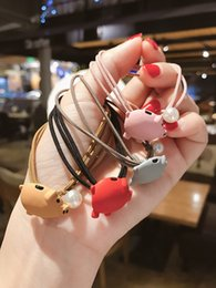 $enCountryForm.capitalKeyWord Australia - H-1 South Korea's birth year piglet rope female simple and cute cartoon pig hair ring hair accessories knotted leather tendon rope