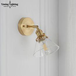 Glasses Vintage Australia - Loft Decor Nordic Copper Glass Wall Lamp Vintage Bathroom Mirror Light Nordic Stairs Lights Bathroom Led Wall Light Vanity Light