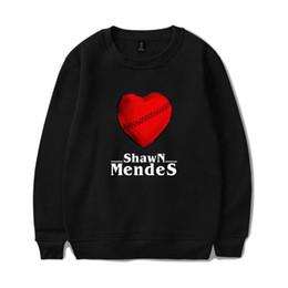 Korean Red Clothes Australia - Kpop Shawn Mendes Red Heart Korean Hoodies Pullover Women Men Sweatshirts Streetwear Harajuku Plus Size Friends Sweat Clothes