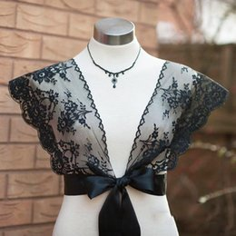 EvEning wEdding drEss bolEro online shopping - lace bolero coat dress topper women black white lace cover up jacket bridal evening dress lace wraps wedding