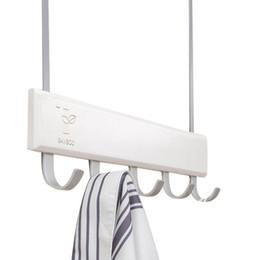 Wooden Wall hangings online shopping - Best Over Door Hooks Multifunction Hanging Rack Wooden Coat Hanger Door Hook Rack Wall Hanging for Cloth Pants Hat Towel Pu