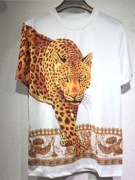 Mens Hiphop T Shirts Australia - summer New Brand casual Tee Mens leopard printing t shirt Men Tops fashion tee T-shirt Men Hiphop Short Sleeve Clothing