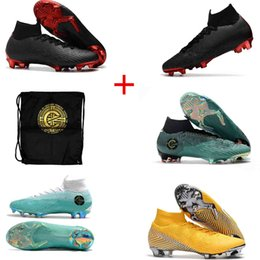 neymar boots 2019 - 2019 Mercurial Superfly VI 360 Elite FG x PSG CR7 Ronaldo Neymar Mens Women Boys High Soccer Shoes shoe Football Boots C