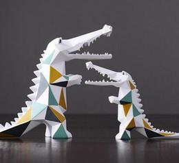Fan Shopping Australia - Modern minimalist geometric crocodile ornaments Living room wine cabinet shop sample room decoration