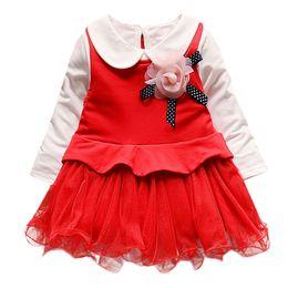 Princess T Shirts For Kids Australia - New Arrival Kids Baby Girl Long Sleeve Flower Princess Tulle Dress for Kids Bab T shirt Clothes Set 2019