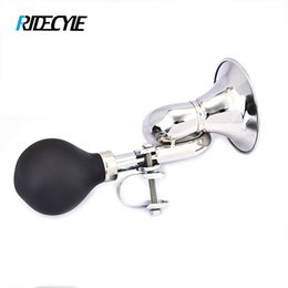 Bicycle Electronics Australia - RIDECYLE Bicycle Horn Light Bicycle Bell Loud Crisp Snail Vintage Retro Bugle Hooter Bell Non-Electronic Air Horn