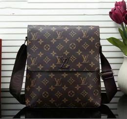 Man sMall business bag online shopping - 2019 new fashion men s business shoulder bag high quality men s wallet handbag