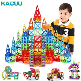 magnetic construction toys for children NZ - Regular Big Size Magnetic Designer Building Construction Toys Set Magnet Educational Toys For Children Kids Boys Girls Gift SH190913