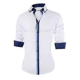 $enCountryForm.capitalKeyWord UK - 2018 New Men's Casual Shirt Slim Fit Cotton Formal Shirt Men Long Sleeve Big Size Design Breathable Office Dress Shirts Men 5xl Y19050703
