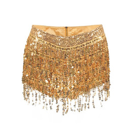 $enCountryForm.capitalKeyWord UK - Sexy Tassel Sequin Mini Shorts Women Zipper High Waist Bodycon Hot Pants Female Ladies Fashion Nightclub Summer Short Pants Y19050905