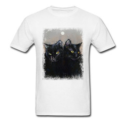 Gothic Style Clothes Australia - Retro Gothic Cats T Shirt Unisex 100% Breath Cotton Fashion Brands Clothing Shirt Street Style Digital Print Painting Tshirt