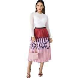 $enCountryForm.capitalKeyWord UK - Cy8137, Suit-dress Printing Will Pendulum Pleated Skirt Crimp Half-body Skirt