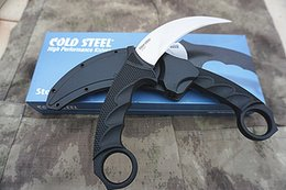 $enCountryForm.capitalKeyWord Australia - Promotion Cold Steel Tiger Karambit VG-1 Satin Blade Kraton+Grivory Handle Fixed Blade Claw knife with Secure-Ex sheath