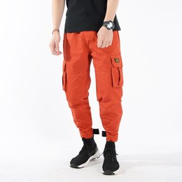 Lace print trousers online shopping - Dropshipping Suppliers Usa Men Cargo Pants Us Size Long Trousers Low Waist Lace Up Cargo Pencil Pants Men Leggings