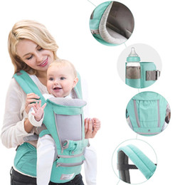Infant Hip Carriers NZ - Ergonomic Baby Carrier Infant Kid Baby Hip Seat Sling Front Facing Kangaroo Wrap Carrier For Travel 0-18 Months