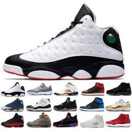san francisco 43e21 2080e Nike Air Jordan 1 4 6 11 12 13 Retro Top 13 13s Hommes Chaussures de  basketball Bred Flints Histoire 11 11s Vol Altitude XIII Sport Chaussures  Designers ...