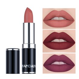 Chinese  HANDAIYAN Professional Matte Lipstick Long Lasting Waterproof Velvet Lip Stick Batom Makeup Cosmetics Mate Make Up manufacturers