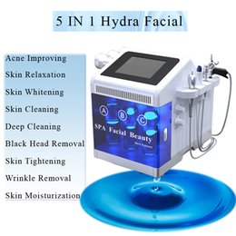 Spa head online shopping - microdermabrasion hydra facial machine hydrafacial machines skin black head removal bio rf Wrinkle Removal Skin SPA beauty device