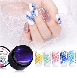 $enCountryForm.capitalKeyWord Australia - 7ml Diamond Glitter Spider Gel Creative Wire Drawing Nail Gel Lacquer Point To Line Painting Gel Pulling Silk Lacquer