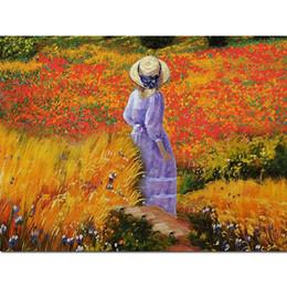 $enCountryForm.capitalKeyWord Australia - Full Diamond Painting Woman Hat 5d Diamond Painting Landscape Diamond Embroidery Countryside 5d Painting Oil Home Decor Z73