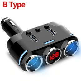 lighter socket splitter Australia - 12V-24V Dual USB Car Charger 100W Cigarette Lighter Socket Splitter Plug LED Adapter Detection For Auto Accessories