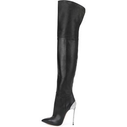 Suede Leather Boots Australia - ZK 12CM High Heels Boots Over The Knee Ladies Faux Suede leather Botas Autumn Winter fashion sexy Boot