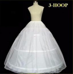 Wedding Dress Full Petticoat Australia - In Stock Petticoats Wedding Ball Gown Ball 3 Hoop Bone Full Crinoline Petticoats For Wedding Dress Wedding Skirt Accessories Slip