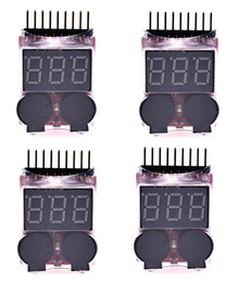 $enCountryForm.capitalKeyWord NZ - RC 1-8s Lipo Battery Tester Monitor Low Voltage Buzzer Alarm Voltage Checker with LED Indicator for Lipo Life LiMn Li-ion Battery(4PCS)