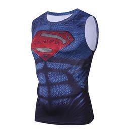 0b2dacafb4278 2018 Marvel Superman Summer Mens Clothing Sportswear G Ym Tank Tops Men 3d  Print Crossfit Vest Compression Bodybuilding Tanktop C19040301