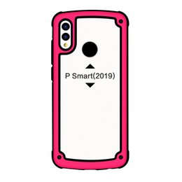 China New Hot Selling 3 in 1 Clear Arcylic TPU PC Cell phone case for Huawei P30 P30 pro New Samsung Models suppliers