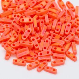 3 г / серия Прибл 130pcs Японский квартал Тила шариков 5x1.2x1.9mm браслета ожерелья ювелирных изделий Изготовление матового стекла бисер на Распродаже