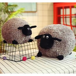 Discount small farm toys - black sheep plush toys 30cm shaun the sheep cute soft plush dolls small sheep stuffed animals toys