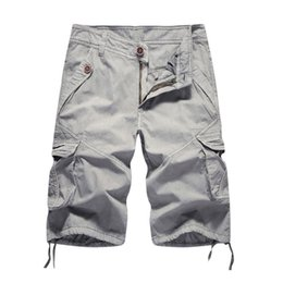 $enCountryForm.capitalKeyWord NZ - Cargo Shorts Men 2018 Summer Solid Army Military Shorts Homme 100% Cotton Soft Fashion Brand Clothing 30-40 Drop Shipping