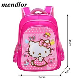Children Hello Kitty School Bag For Girls Cartoon Backpack Bags School  Backpacks Schoolbag Bags Lovely Kids Book Bag 3f929cc3051f2