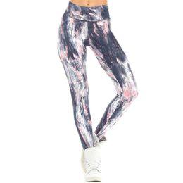 8e6851e743b Women Yoga Pants Leggings Mandala Flower Digital Print Slim Pink High Waist  Pants Fitness Woman Workout Plus Size