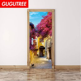 China Decorate Home 3D scenery wall door sticker decoration Decals mural painting Removable Decor Wallpaper G-801 suppliers