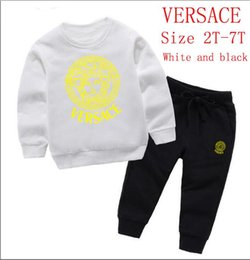 Tutu Sizes For Kids Australia - Wholesale Brand VERSACE Style Children's Clothing For And Girls Sports Infant Short Sleeve Clothes Kids Set size 2T-7T