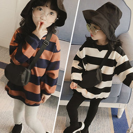 Kids sweatshirts for girls online shopping - 2019 fashion t shirts Kids Autumn Clothes hoodie Children Sweatshirts for Baby Girls long sleeves sweater Girls Hoodies stripe