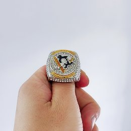 pittsburgh rings Australia - Pittsburgh 2016Penguins Stanley Cup Championship Ring Fan Promotional Gi Souvenir Men Fan Brithday Gift Wholesale 2019 Drop Shipping