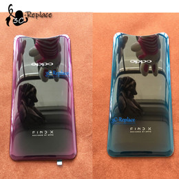 Blue Red Lens Glasses Australia - NEW Bordeaux red   Ice blue 6.42 inch For oppo Find X Back Battery Cover Door Housing case Rear Glass lens parts