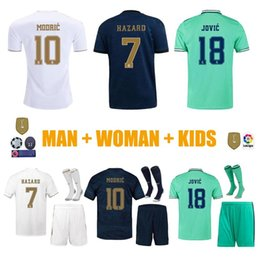 Real madRid fans online shopping - New S XL FANS HAZARD JOVIC MENDY RODRYGO REAL MADRID soccer jerseys camisetas football men WUMAN kids sets tops